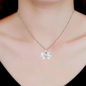 """NWOT 18"""" Sterling Silver Bow Necklace"""